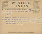 Telegram, 1932 June 18, West Los Angeles, Calif., to Amelia Earhart, New York