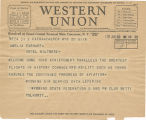 Telegram, 1932 June 20, Casper, Wyo., to Amelia Earhart