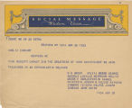 Telegram, 1932 June 20, New York, NY, to Amelia Earhart, New York, NY