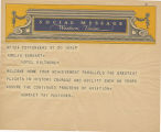 Telegram, undated, Yonkers, NY, to Amelia Earhart