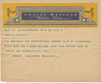 Telegram, undated, Clarksburg, W. Va., to Ameia Earhart