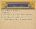 Telegram, undated, Kansas City, Mo., to Amelia Earhart