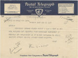 Telegram, 1937 June 16, Karachi, to George Palmer Putnam, New York, NY
