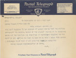 Telegram, 1937 Aug. 2, Washington, DC, to George Palmer Putnam, New York, NY