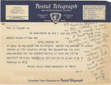Telegram, 1937 Aug. 7, Washington, DC, to George Palmer Putnam, New York
