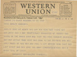 Telegram, 1935 Jan. 12, New York, NY, to Miss Amelia Earhart