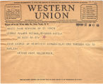Telegram, 1932 May 21, to George Palmer Putnam, New York