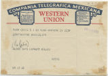Telegram, 1935 April 20, New York, to Constantine, Mexico City