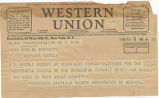 Telegram, 1935 May 9, Washington, DC, to Amelia Earhart