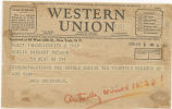 Telegram, 1935 May 8, Mexico City, to Amelia Earhart Putnam