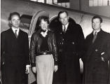Harry Manning, Amelia Earhart, and George Palmer Putnam