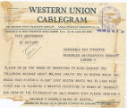Telegram, 1928 June 20, Boston, Mass., to Ray Atherton, London