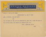 Telegram, 1932 June 17, New Brunswick, N.J., to Amelia Earhart, New York