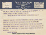 Telegram, 1937 Aug. 24, Washington, DC, to George Palmer Putnam, Burbank, Calif.