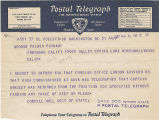 Telegram, 1937 Aug. 31, to George Palmer Putnam, Burbank, Calif.