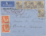 Envelope from Surinam, 1937