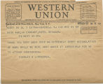 Telegram, 1933 May 22, Hopewell, NJ, to Amelia Earhart
