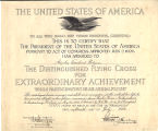 Certificate, Distinguished Flying Cross