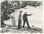 Amelia Earhart with George Palmer Putnam and Fred Noonan