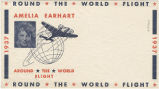 Postal envelope, Round the world flight, Amelia Earhart, 1937