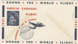 Postal envelope, Round the work flight, Amelia Earhart, 1937