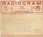 Telegram, 1932 May 23, London, to Putnam, NYC