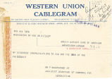Telegram, 1928 June 21, Washington, DC, to Amelia Earhart, London