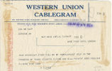 Telegram, 1928 June 22, New York, to Amelia Earhart, London