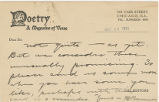 Rejection slip, 1921 May 16