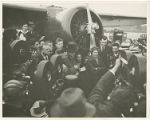 Amelia Earhart arriving in Newark