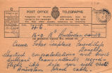 Telegram, 1928 June 18, Amsterdam, to crew, Fokker seaplane Friendship, Llanelly