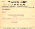 Telegram, 1928 June 20, New York, to Amelia Earhart, London