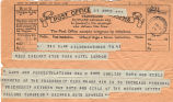 Telegram, 1928 June 19, Hildenborough, TN, to Miss Earhart, London