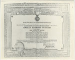 Certificate, 1932 June 20 from United States Flag Association (photograph)