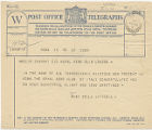 Telegram, 1932 May 22, Rome, to Amelia Earhart, London
