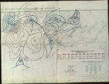 Meteorological plotting chart, upper air winds for A.M., 1935 Jan. 10