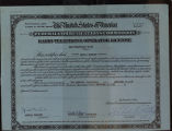 Radio telephone operator license, 1934 Dec. 22, issued to Amelia Earhart