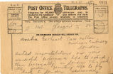 Telegram, 1932 May 23, Glasgow, to Amelia Earhart, London