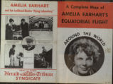 Complete map of Amelia Earhart's equatorial flight around the world