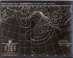 North Pacific Ocean meteorological plotting chart, weather map, westward passage, San...
