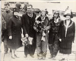 Amelia in Southampton, 1928, with group