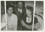 Amelia Earhart with Auguste Piccard and his wife