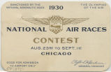 Admission card to the National Air Races