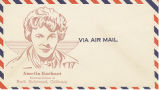 Postal envelope commemorating Amelia Earhart as a citizen of North Hollywood
