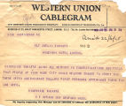 Telegram, 1928 June 21, Boston, Mass., to Amelia Earhart, London