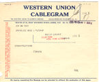Telegram, 1928 June 20, Brookline, Mass., to Amelia Earhart, London