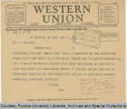 Telegram, 1936 Jan. 10, New York, N.Y., to Dr. E.C. Elliott, Lafayette, Ind.