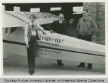 Amelia Earhart with President Elliott and Captain Aretz