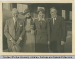 Amelia Earhart with President Elliott and others