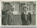 Amelia Earhart with President Edward C. Elliott at his home